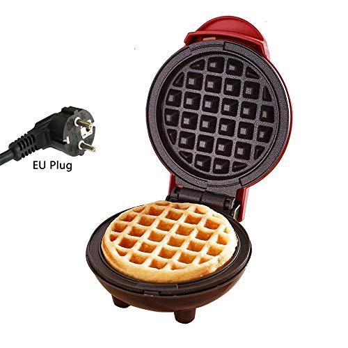 Mini Waffeleisen, elektrische Antihaft-Waffelmaschine für einzelne Waffeln, Paninis, Pfannkuchen, Rösti, schnelles Frühstück, Mittagessen oder Snacks (Mini)
