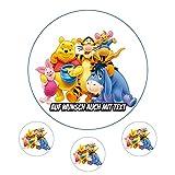 Tortenaufleger aus Zuckerpapier - Tortenbild Geburtstag Tortenplatte Zuckerbild Motiv: Winnie Pooh Disney