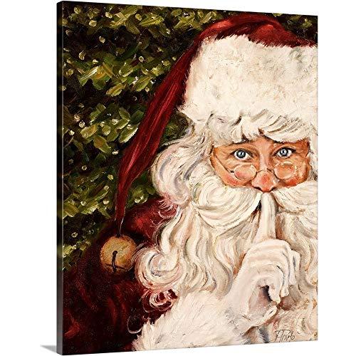 "Secret Santa Canvas Wall Art Print, 16""x20""x1.25"""