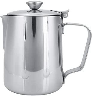 Liukouu Tasse /à Caf/é Pichet /à Caf/é en Pot de Lait Titanis/é en Acier Inoxydable de 350 Ml pour Art Latte noir