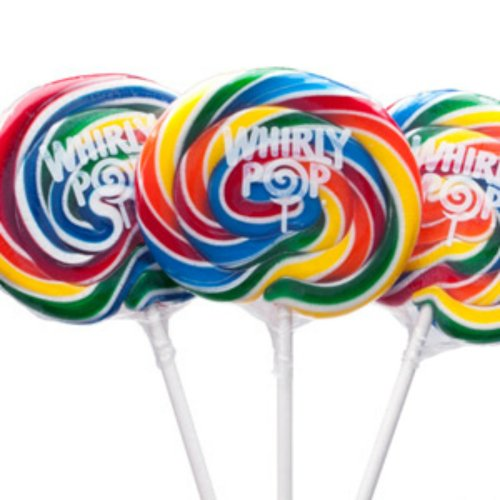 3 Inch Rainbow Whirly Pops 1 Lollipop