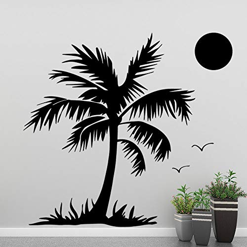 LSMYE Mode Coconut Tree Wandaufkleber Home Decor Für Wohnzimmer Dekoration Wandtattoos Raumdekoration Wandsticker Rot L 43cm X 48cm