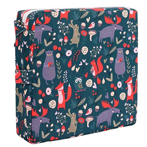 NUOBESTY Baby Esszimmerstuhl Erhöhung Kissen Hochstuhl Booster Sitzkissen waschbar Stuhl Sitzkissen mit Gurt für Kleinkinder Kinder Säugling Baby dunkelgrün