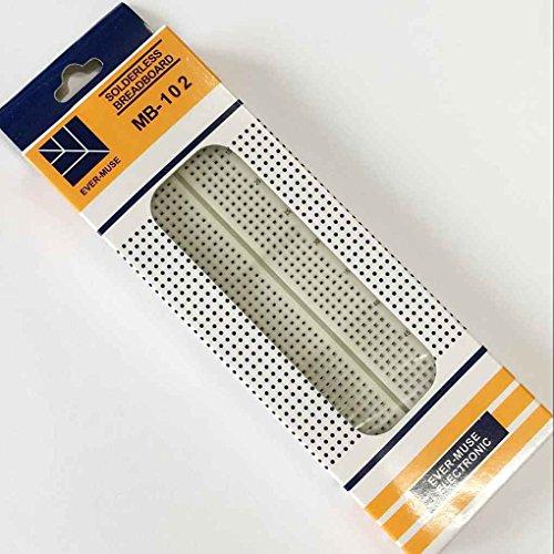 Amazon.de - MB-102 Solderless Breadboard 830 Points for Prototyping