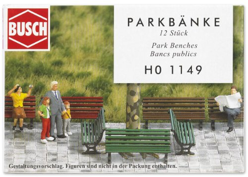 Busch 1149 - 12 Parkbänke