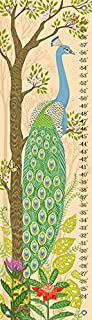 Oopsy Daisy Jungle Oasis - Peacock Growth Chart, Green