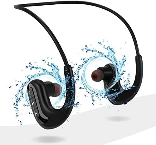 Waterproof Headphones for Swimming IPX8 8GB in Ear Wireless Earbuds Sport Wearable MP3 Player product image