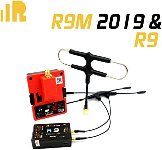 FrSky R9 900MHz 16CH Long Range Receiver & R9M 2019 Module System with Mounted Super 8 and T Antenna