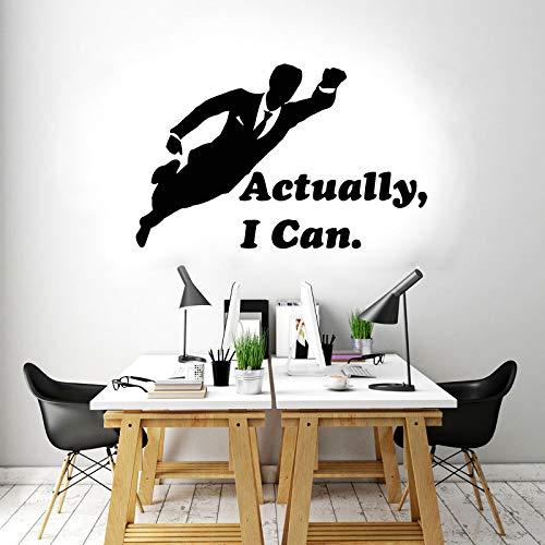 Office sticker citaten Ik kan eigenlijk vliegen vinyl muurstickers ideeën om kantoor slaapkamer zelfklevende <> 92x58cm te versieren
