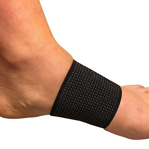 Calze per fascite plantare e supporto arco plantare | Cura dei piedi | Tutore fascite plantare | Tutore di compressione antibatterico con rame infuso per sostegno del piede (taglia unica) | 1 PAIO