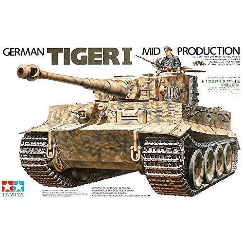 Tanque German Tiger I - Mid Production - TAMIYA