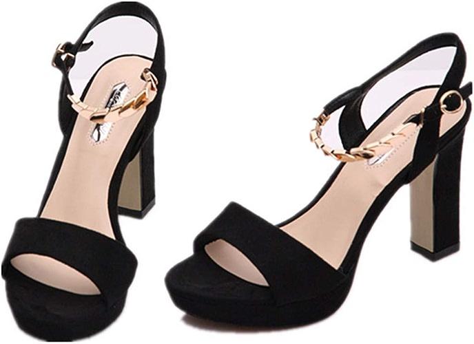 GTVERNH Chaussures Femme Mode des Talons DE 10 Cm De Talon Une Table De étanches Boucles Douce Soeur Fish Bouche Sexy Sandales été Les Chaussures De Femmes.