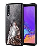 Galaxy A50 Case, Slim Impact Resistant Shock-Absorption Rubber Protective Case Cover for Samsung Galaxy A50 (2019) 6.4 inch - Winter Wolf Roaring