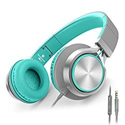 cheap AILIHEN C8 Headphones Lightweight Folding Headset with Microphone and Volume Control…