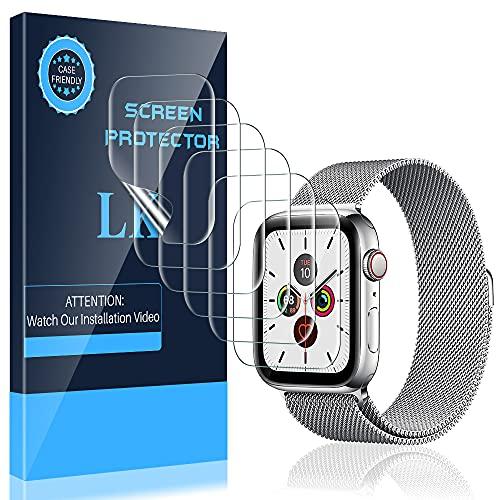 LK 6 Stück Schutzfolie für Apple Watch Series 6/SE/5/4 40mm, [Kompatibel mit Hülle] [Blasenfreie] Klar HD Weich TPU Bildschirmschutzfolie für iWatch Series 6/SE/5/4 40mm