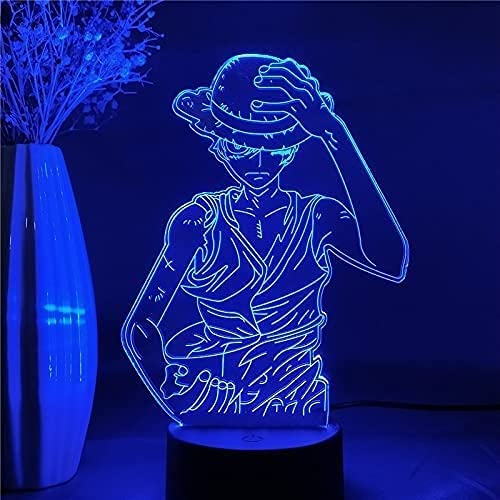 Skjfdmiy Animation LED Small Table Lamp One Piece: D. Sale item Lu Max 43% OFF Monkey