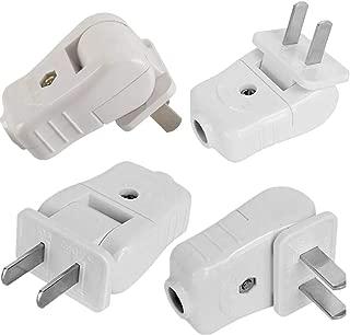 Light Duty, Straight Blade, Residential Polarized Plug, 2 Wire Plug,Non-Grounding, 2P, 2W, Plug ,15 Amp ,White, 4pack