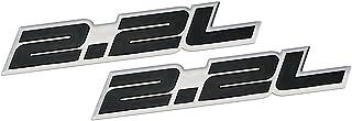 2 x (pair/Set) 2.2L Liter Embossed BLACK on Dodge Daytona IROC Shelby Lancer CSX GLH-S Charger Omni GLH Aries Spirit Phant...