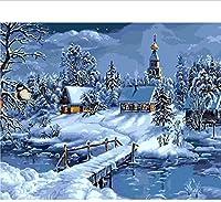 アダルトパズル1000ピース風景パズル3Dジグソーパズルスカンジナビア雪風景DIYモダンアート特別な家の装飾ギフト75X50Cm-2471 0120