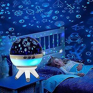 Mood Night Light for Baby,Projection LED Night Light Lamp Nursery Bedroom Living Room Children Kids Gift for Birthday,Parties,Bedroom