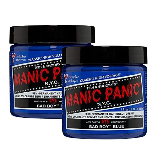 MANIC PANIC Bad Boy Blue Hair Dye Classic 2 Pack