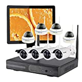 Vcamdo CCTV Home Security and Surveillance System Wireless with 8 Cameras Night Vision Systems with Optional Hard Drive and Monitor