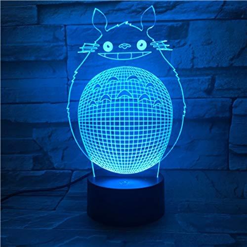 Led-nachtlampje, 3D-vision-zeven, kleuren-afstandsbediening, mooi kind begeleidt nachtlampje, mijn nabar, kat nachtlampje, kinderslaapkamer, decoratief licht, verjaardagscadeau, kindernachtlampjector