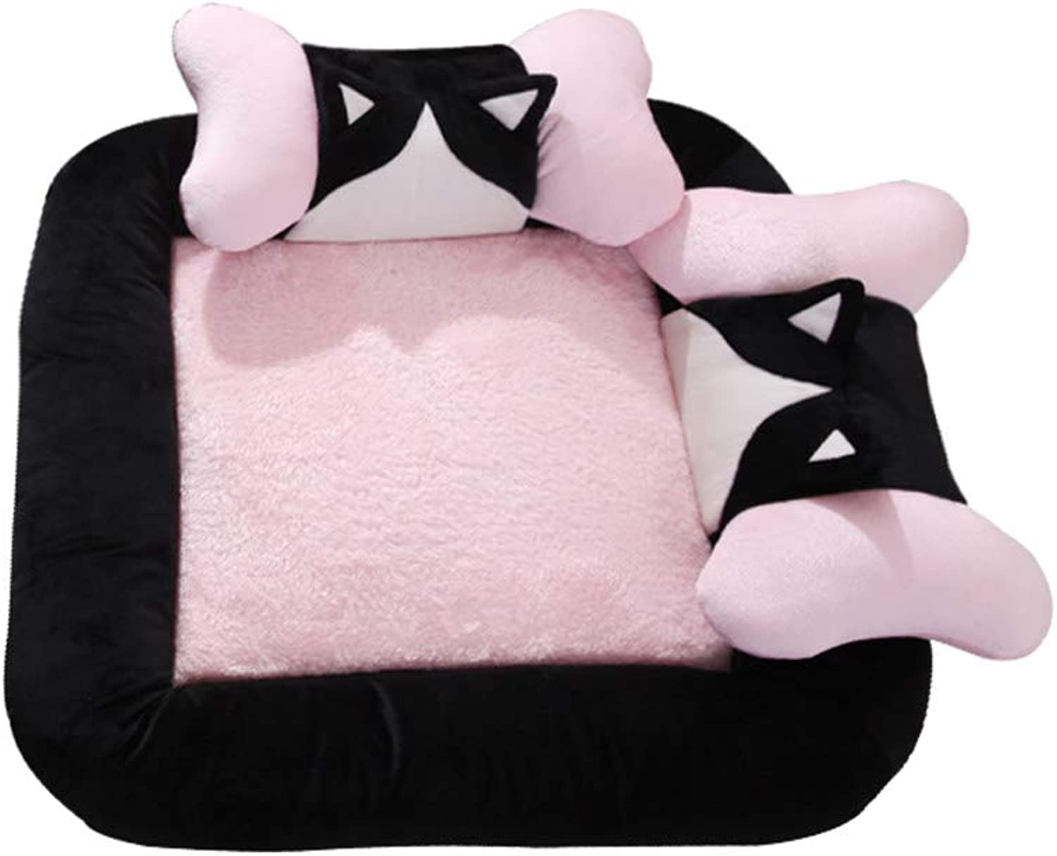 Pet Bed Removable and Washable Four Seasons Universal Pet Mat Large Medium Small Dog Bed Sofa (color   Pink, Size   M(65  65cm))