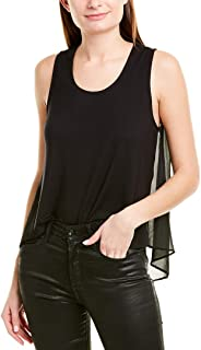 Women's Knit Front Woven Back Tee