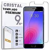 REY Protector de Pantalla para MEIZU M6 / MEILAN 6, Cristal Vidrio Templado Premium