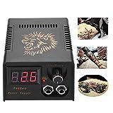 Tattoo Maschine Netzteil, professionelle LCD-Display Löwenkopf Tattoo Netzteil schwarz Tattoo Transformator Set für Salon(EU)