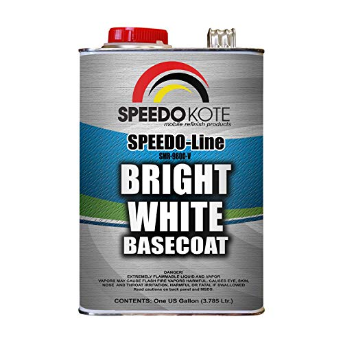 Speedokote Bright White Base Coat 3.5 voc 50 State Legal, One Gallon SMR-9800-V Basecoat