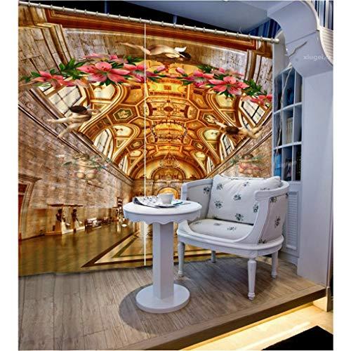 Cortinas Opacas - Impresión 3D Lindo Ángel Bebé - Cortinas con Ojales - Reducción De Ruido De Aislamiento, 180(H) X125(An) Cmx2 Paneles/Set