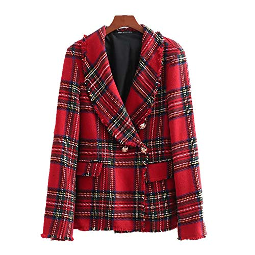 GAOJUAN 2018 En Winter vrouwen Trench Coat Double Breasted Suit Collar Lange mouwen Twill Zachte Plaid Pak Ademende Lichtgewicht Gevoerde Jas Losse Plus Size Coat