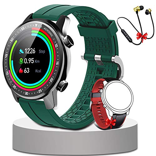 Smartwatch,Fitness Watch Uhr Voller Touch Screen IP68 Wasserdicht Fitness Tracker Sportuhr mit Schrittzähler Pulsuhren Stoppuhr für smartwatch Damen Herren für iOS Android