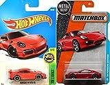 Porsche Red Hot Wheels & Matchbox '14 Porsche Cayman Red 2016 + orsche 911 GT3 RS #78 Red City HW Exotics in PROTECTIVE CASES