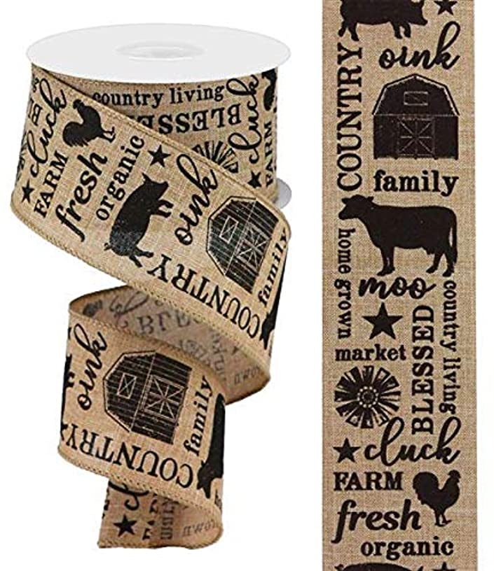 Country Living Canvas Wired Edge Ribbon - 2.5