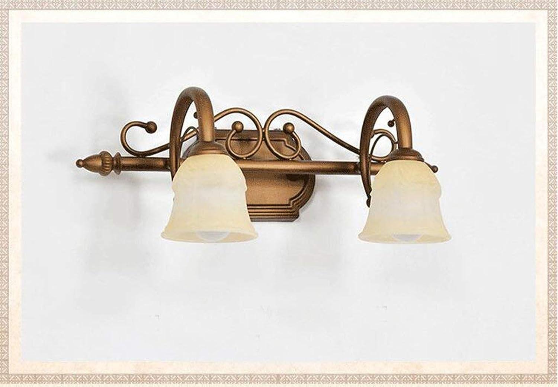 WENYAO Ali Europischen Stil LED Spiegel Scheinwerfer Bad Amerikanischen Spiegel Vorne Lampe Bad Schminktisch Lampe Zubehr (Gre  Doppel kopf-45  20 cm)