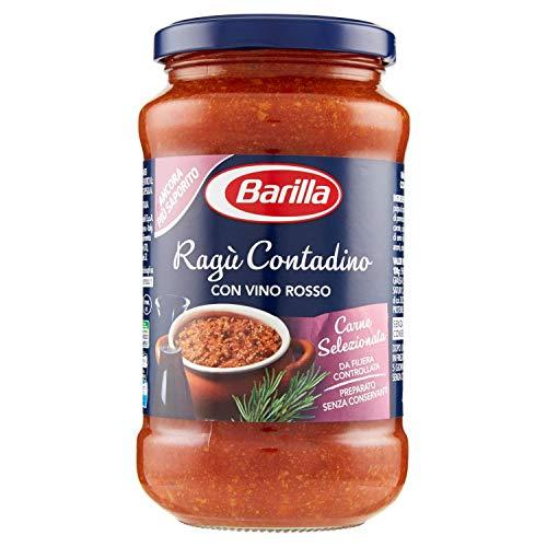 Barilla - Sugo Ragù Contadino - Salsa Pronta al Pomodoro con Vino Rosso - 400 gr