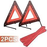 Yaegoo Warning Triangle, Reflective Warning Road Safety Triangle Kit (2)