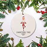 None-brands 2020 Christbaumschmuck Yoga Weihnachten Ornament, Yoga Santa in einer...