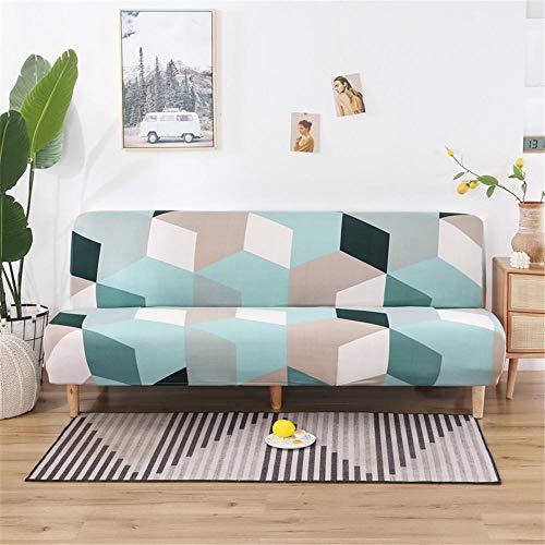 Funda Sofa 1 Plaza Lago De Hielo Azul Fundas Sofá,Universal Funda Cubre Sofas Ajustables, Antideslizante Protector Cubierta de Muebles(90-140cm)