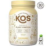 KOS Organic Plant Based Protein Powder – Raw Organic Vegan Protein Blend, 2LB 7.1 oz, 30 Servings...