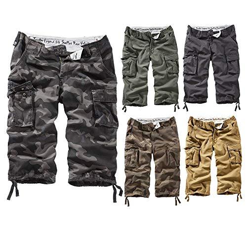 Surplus Trooper Legend 3/4 Shorts, Grün (Oliv Gewaschen), Gr. XL