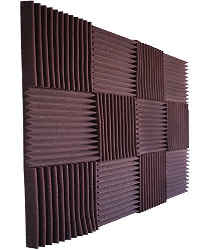 Foamily 12 Pack- All Burgundy Acoustic Panels Studio Foam Wedges 1' X 12' X 12'