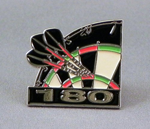 Broche de metal esmaltado con diseño de flechas para dardos y diana de 180 tiros de puntuación alta