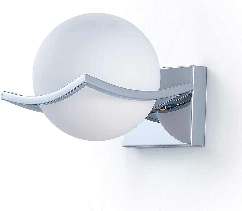 Wandleuchte,LED-Wandleuchte, Kreative Glaskugel-Wandleuchte, E27-Fassung, modernes minimalistisches Wohnzimmer, Schlafzimmer, Gang, Zimmer, Nachtwandleuchte