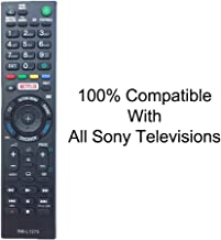 CEZO Universal Replacment Remote Control Compatible with All Sony LED/LCD/HDTV Television's Remote Controller RMT-TX100U with Netflix Function (NO Set UP Required)