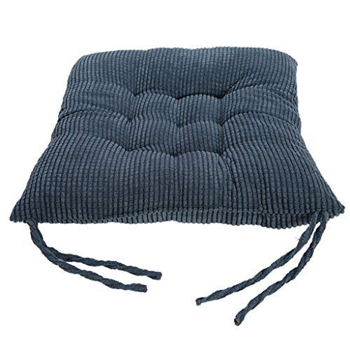 MKWEY Chair Pads with Ties 1Pack, 16' X 16', Seat Cushion for Kitchen Chairs, Chair Pads and Cushions for Dining Chairs, Square Tufted, Gripper Jumbo Saturn Rocking