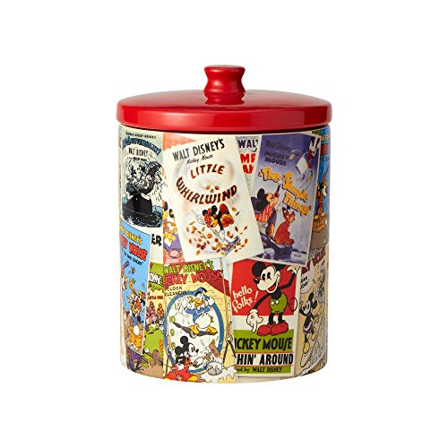 Enesco Disney Ceramics Mickey Mouse Collage Cookie Jar, 9.25', Multicolor